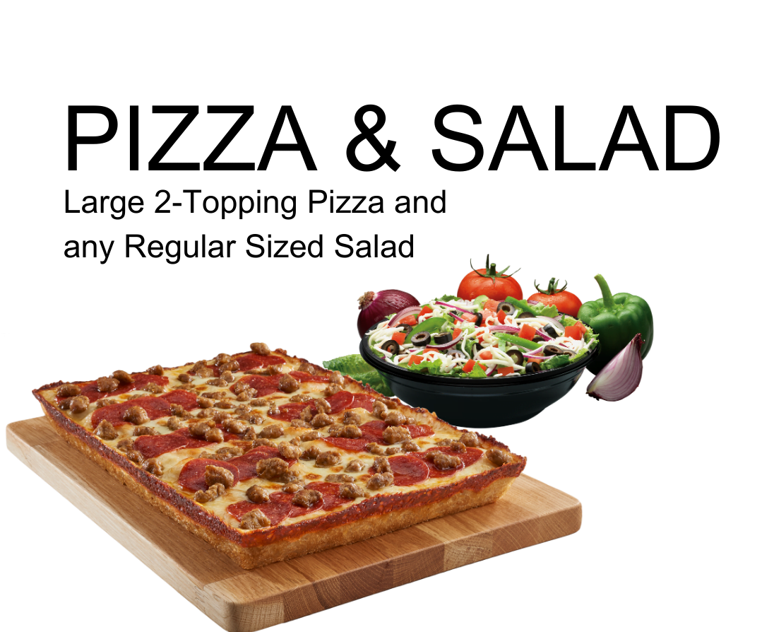 Coupon-Pizza and Salad